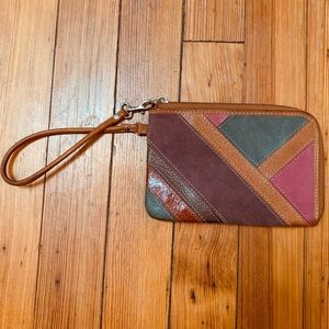 Fossil wristlet. EUC. Pink and earth tones